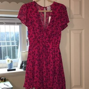 Floral + simple dress from Francesca's!